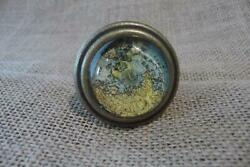 Antique Brass Drawer Pulls Handles Map Globe Atlas Cabinets Knobs Lot Of 2