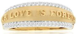 .20ct Diamond 14kt Yellow Gold 3d Round Matte And Shiny Our Love Is Forever Ring