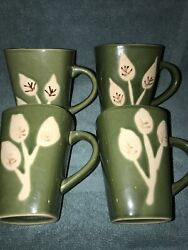 4 Ladolce Vita By J.a. Designs Square Green Cups/mugs, Branches Collection