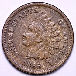1865 Indian Head Cent Penny Choice Au Free Shipping E727 Gnm