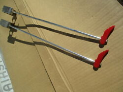 1930and039s Approx. 16 Inch Red Bakelite Wings Fender Guides