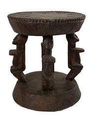 African Dogon Carved Wood Milk Stool Mali 10 H By 8.25 D