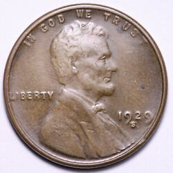 1929-s Lincoln Wheat Cent Penny Choice Bu Free Shipping E793 Yp