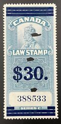 Canada Revenue Fsc19, 30 On 1, 1935 Kgv Law Stamp. Vf, Used.