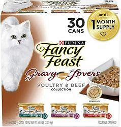 Purina Fancy Feast Gravy Lovers Poultry And Beef Feast Collection Wet Cat Food