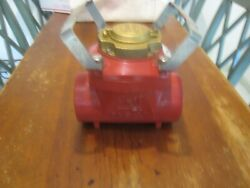 Hendey 3 Inch Flow Meter Fire Hydrant,water Meter Used Very Little Fire Dept Nic