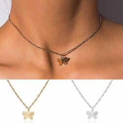 New Simple Butterfly Pendant Necklace Choker Clavicle Chain Women Jewelry Gifts C $0.99