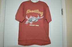 Vintage Old Stock Breitling Novelty Short Sleeve T-shirt Size Small 1884 Jerzees