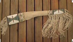 Native American Beaded Rifle Scabbard Sioux Style Suede Leather S503