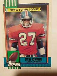 1990 Topps Supper Rookie 29 Denver Broncos Safety Steve Atwater. F10