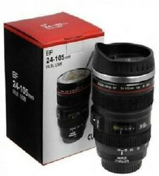 Camera Lens Shaped Coffe With Lid Camera Lens Sipper Stainless Steel Coffee Mug