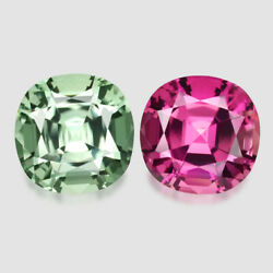 8cts Calibrated Master 10mm Cushion Cut Tourmaline Reverse Pair Watch Video