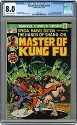 Special Marvel Edition 15 Cgc 8.0 1973 2124770011 1st App. Shang Chi