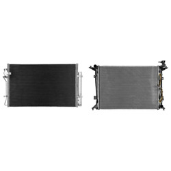 A/c Condenser And Radiator Kit For 2013-2014 Hyundai Genesis Coupe