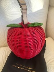 Collectors Kate Spade New York Pack A Picnic Red Apple Wristlet Clutch Rare