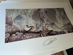 Yes Relayer Art Print By Roger Dean Hand Signed Jon Anderson Coa Sale