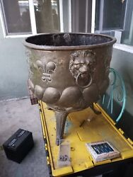 Antique French Copper And Brass Planter Jardinière 19th Century Rare