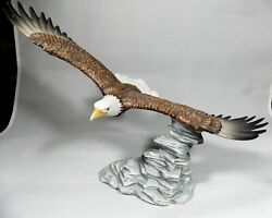2009 Porcelain Hour Of Power Eagles Club Statue Designed By Michael Maiden