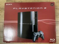 New Playstation 3 40gb Clear Black Ps3 Sony Cechh00 Very Rare