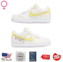 Nike Air Force Shadow White Yellow Athletic Casual Womenand039s Sneakers D5197001