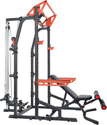 Multi Functional Power Workout Zone Half Rack Heavy Duty Performance Power Cage