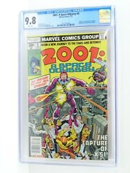 Marvel Comics 2001 A Space Odyssey 8 Cgc 9.8 White Pages News Stand 1977