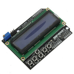 Keypad Shield Blue Backlight For Robot Lcd 1602 Board Geekcreit For Arduino -