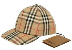 New Trucker Signature Check Baseball Cap Hat L Made In Italy