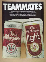 1981 Old Milwaukee Beer Cans Photo Vintage Print Ad