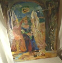 The Angels Crown A Queen Original Oil American Artist June Wright Lewitin 7212