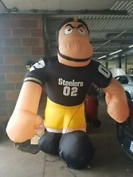 Gemmy 2004 Giant Inflatable Football Player Nfl Pittsburgh Steelers 7 Feet Tall