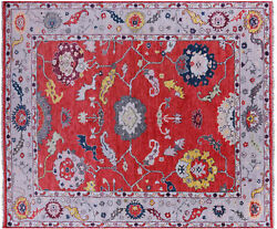 8and039 6 X 10and039 2 Hand-knotted Turkish Oushak Wool Rug - Q9142