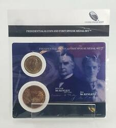 2013 William Mckinley Presidential 1 Coin And First Spouse Medal Set Us Mint Xn7