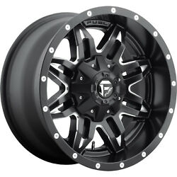 4- 18x9 Black Fuel Lethal 6x135 And 6x5.5 -12 Rims Discoverer S/t Maxx Tires