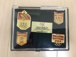 U.s.a Olympic Pin Badge 1988 Cased Limited Vintage Rare