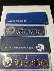 1966 And 1967 Sms Us Special Mint Sets 40 Silver Kennedy Half Dollars Nice
