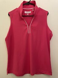 Pebble Beach women's Dry luxe sleevless top Size XXL NWOT Pink Color $16.99