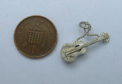 Bs Vintage Sterling Silver Charm Of A Spanish Guitar One Of Many Listed
