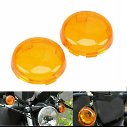 4x Fit For Harley 883 1986-2015 Motorcycle Orange Turn Signal Light Lens Covers
