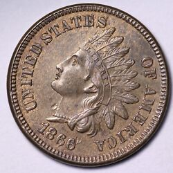 1866 Indian Head Cent Penny Choice Unc Free Shipping E551 Knfk
