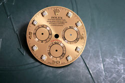 Rolex Champagne Diamond Dial W/ Hands For Model 116528 Fcd12619