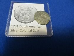 1731 Silver Early American Colonial Coin Before Us Minted Coins Free Shipping