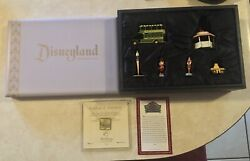 Disney Main Street Usa Painted Pewter Miniatures 50th Anniversary And Certificate
