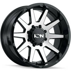 4-20x9 Machined Black Wheel Alloy Ion Style 143 6x5.5 18