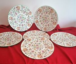 6 Minton Haddon Hall Dinner Plates In Pristine Condition First Quality