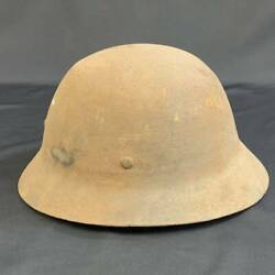 Imperial Japanese Army Iron Helmet Hat Cap Combat Pear52 Military Antique Japan