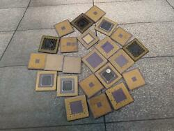 Lot Of 23 Intel Pentium Ceramic Computer Cpuand039 For Scrap Gold Recovery.