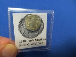 1680 Silver Early American Colonial Coin Before Us Minted Coins Free Shipping