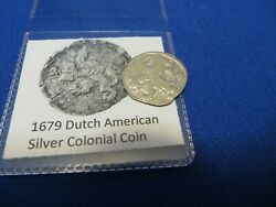 1679 Silver Early American Colonial Coin Before Us Minted Coins Free Shipping