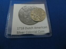 1718 Silver Early American Colonial Coin Before Us Minted Coins Free Shipping